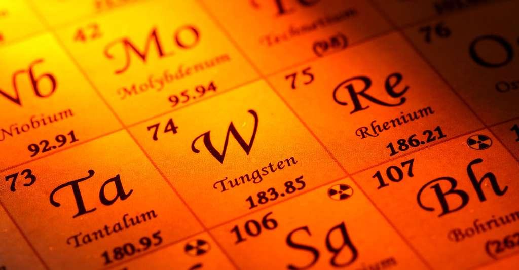 Extrait du tableau périodique des éléments chimiques. © Riggsby, Shuttertstock