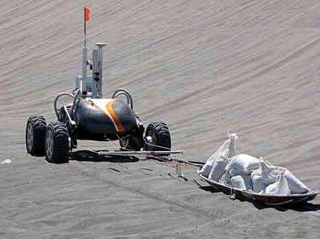 Conditions extrêmes : essais de traction. Crédit Nasa