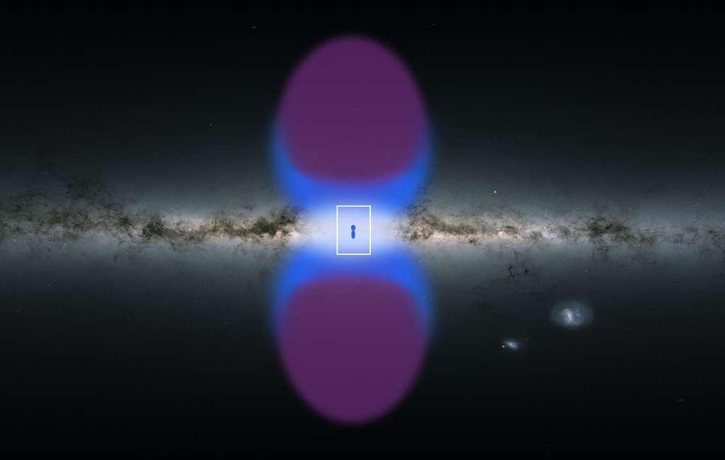 Une carte des bulles de Fermi en gamma et X. © ESA, XMM-Newton, G. Ponti et al. 2019