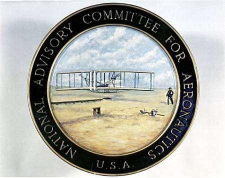 Autre emblème du Naca, dédié à la recherche aéronautique