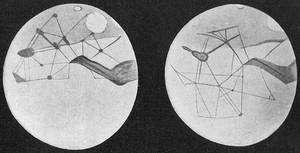 Carte de la surface martienne réalisée par l'astronome amateur P. Lowell.
