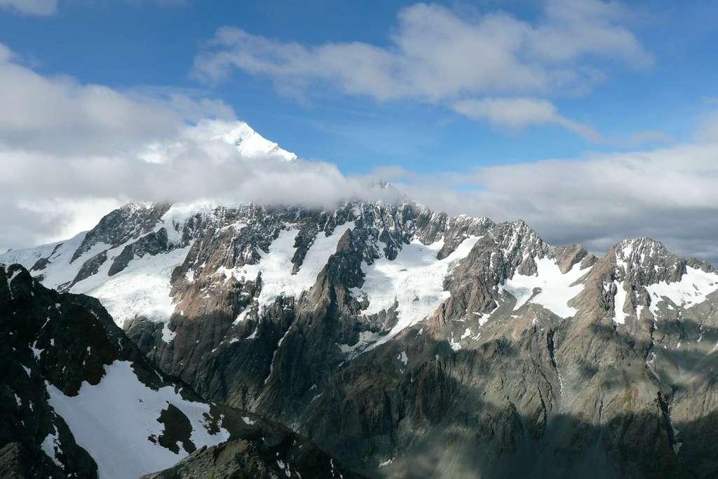 Le mont Cook, vu de Copland Pass. © Bruno Cédat