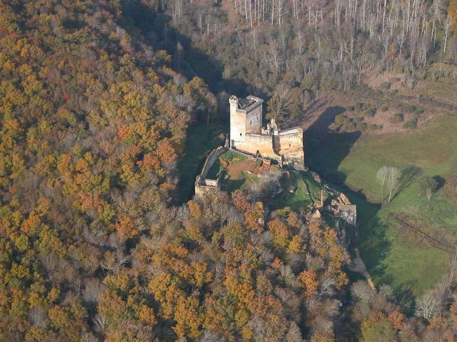 Le château de Commarque, en Dordogne