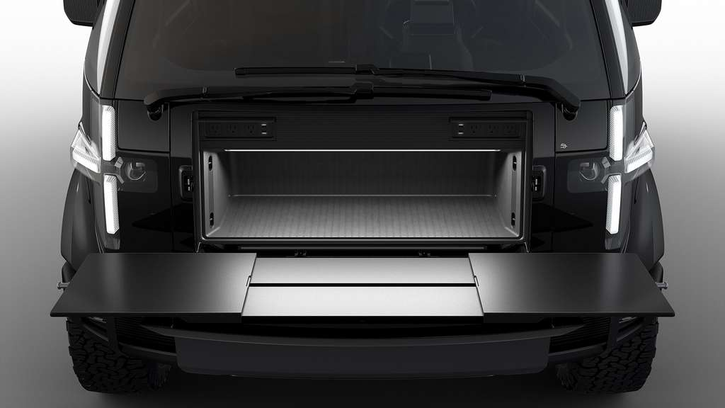 Le pickup électrique Canoo mise beaucoup sur sa modularité et sa praticité. © Canoo