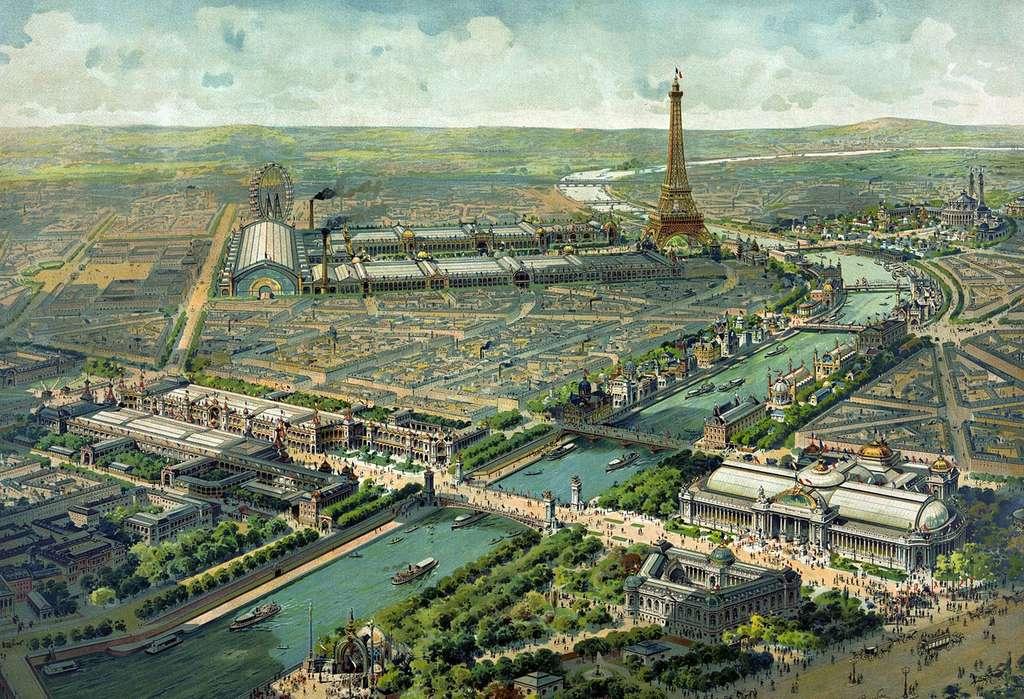 Vue panoramique de l'exposition universelle de 1900. © Lucien Baylac. Source, Bibliothèque du Congrès des États-Unis, DP