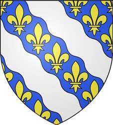Blason des Yvelines. Les bandes ondées d'argent symbolisent la Seine et l'Oise, qui se rejoignent à Conflans-Sainte-Honorine. © Spedona, Wikimedia Commons, GNU 1.2
