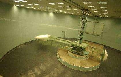 La centrifugeuse du Centre d'entraînement. Elle peut simuler des accélérations allant jusqu'à 30g. (Crédit : Capcomespace)