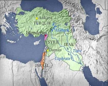 Les barrages en Turquie et ses pays voisins. © DR