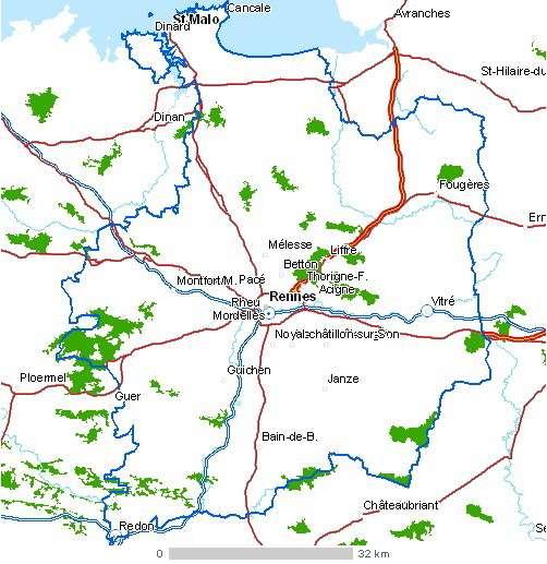 Carte du département d'Ille-et-Vilaine. © IAAT, CC by-sa 3.0