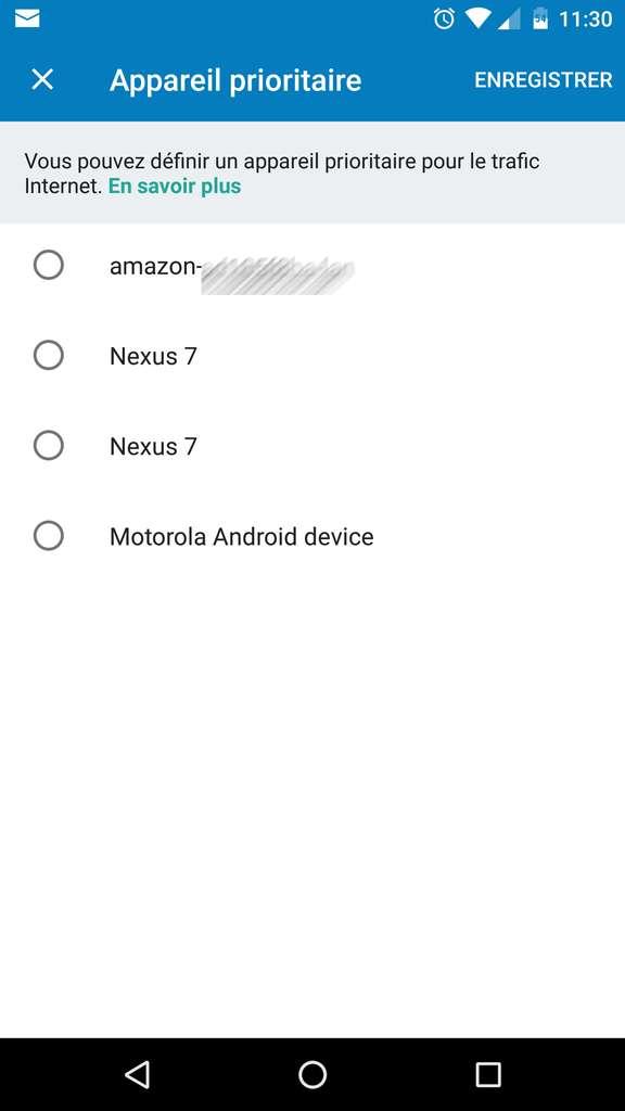 Définir un appareil prioritaire sur Google Wifi. © Futura