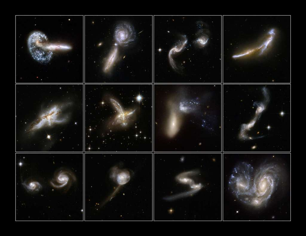 Photos de galaxies en collisions