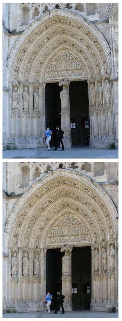 Bordeaux : cathédrale Saint-André ; portail nord. © J.-P. Louvet
