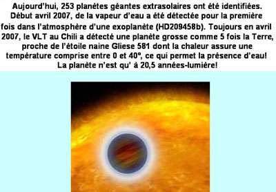 Les exoplanètes peuvent être détectées par la méthode des vitesses radiales ou la méthode des transits. On en a aujourd'hui détecté près de 850. © DR