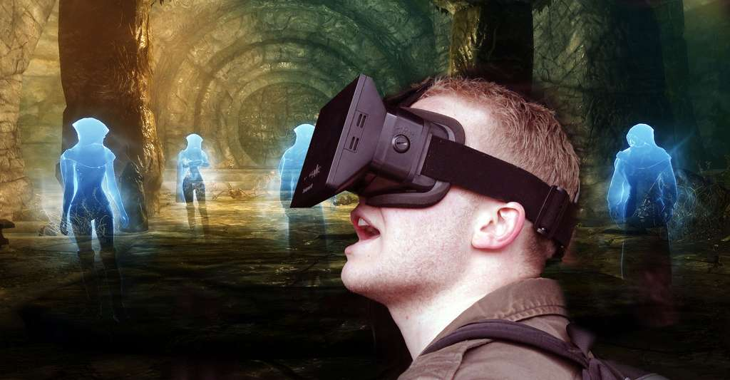 Quelles interfaces pour la réalité virtuelle ? Ici, un casque de réalité virtuelle. © Rene Passet, *J-P*, Flickr, CC by-nc 2.0