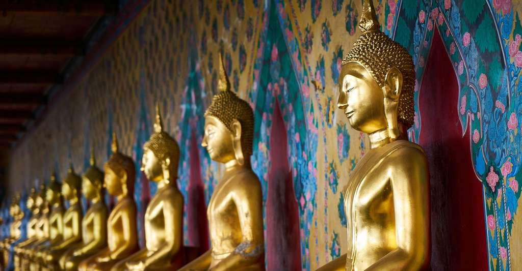 Thaïlande, statues de Bouddha en or. © Engin_Akyurt Pixabay, DP