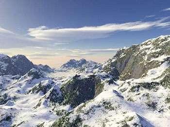 Exemple de paysage obtenu très facilement avec le programme Terragen.