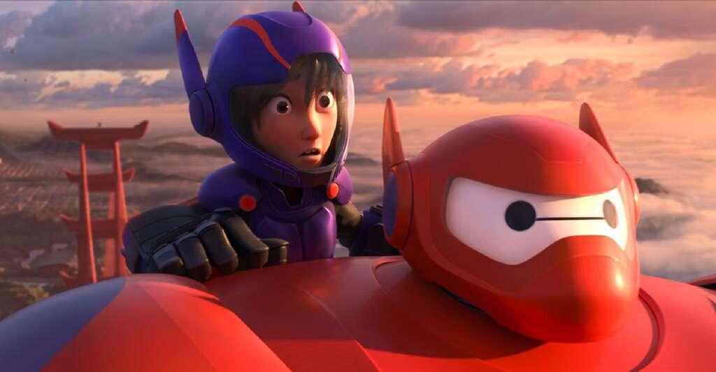 Tour d'horizon des techniques et technologies numériques développées tout au long de la passionnante histoire du cinéma d'animation. Ci-dessus, Les Nouveaux Héros (2015), un film en images de synthèse dont la lumière est très photoréaliste. © The Walt Disney Company France