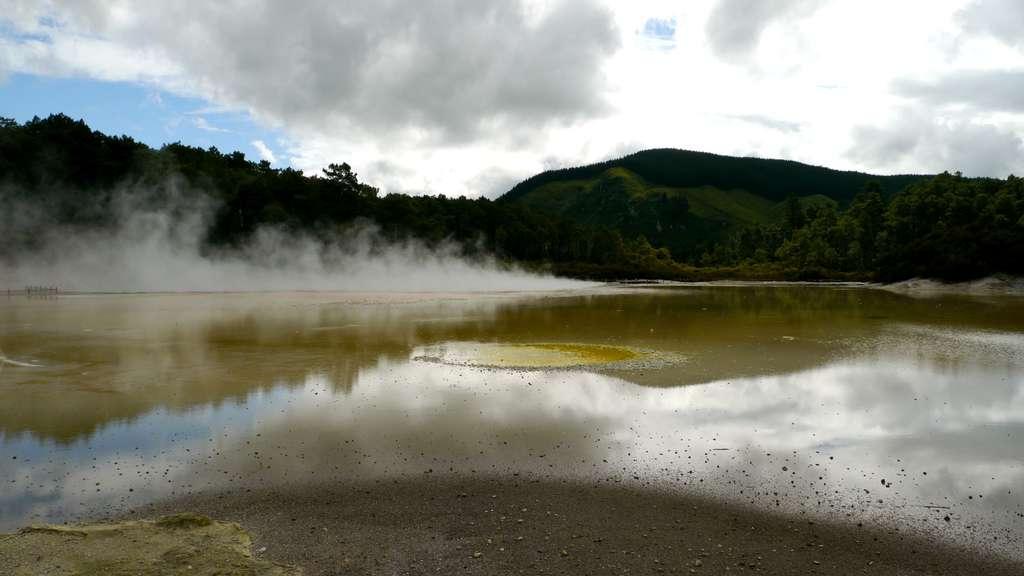 Parc géothermique de Waiotapu, sur l'île de Rotorua, dans le nord de la Nouvelle-Zélande. © Bruno Cédat