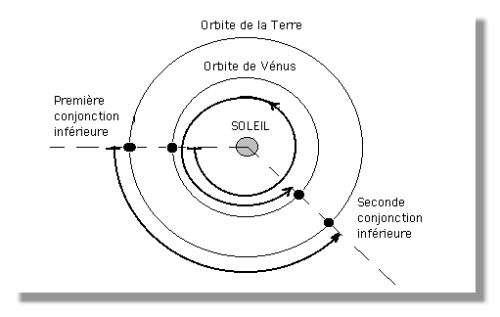 Orbite de Vénus - © Dessin J.P. Luminet