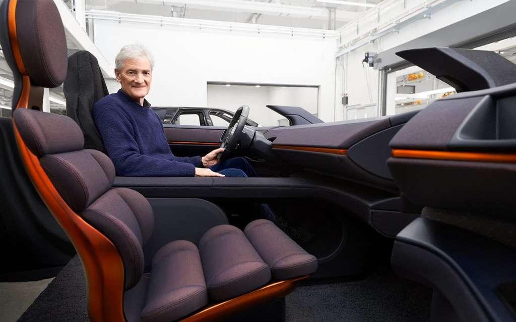 Une ébauche de l'habitacle du Dyson N526 avec des sièges au design audacieux. © Sunday Times/Dyson