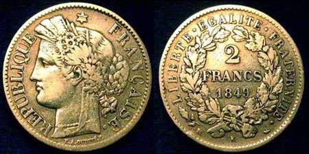 2FF Ceres 1849 France.