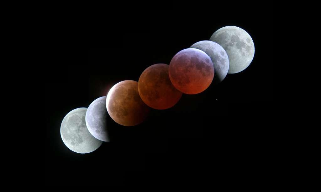 Lors d'une éclipse de Lune, notre satellite revêt de somptueuses couleurs. © Rob Glover, Flickr, CC by-sa 2.0