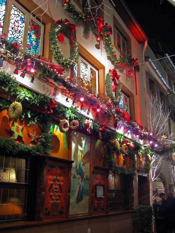 Décor de Noël à Strasbourg, en Alsace