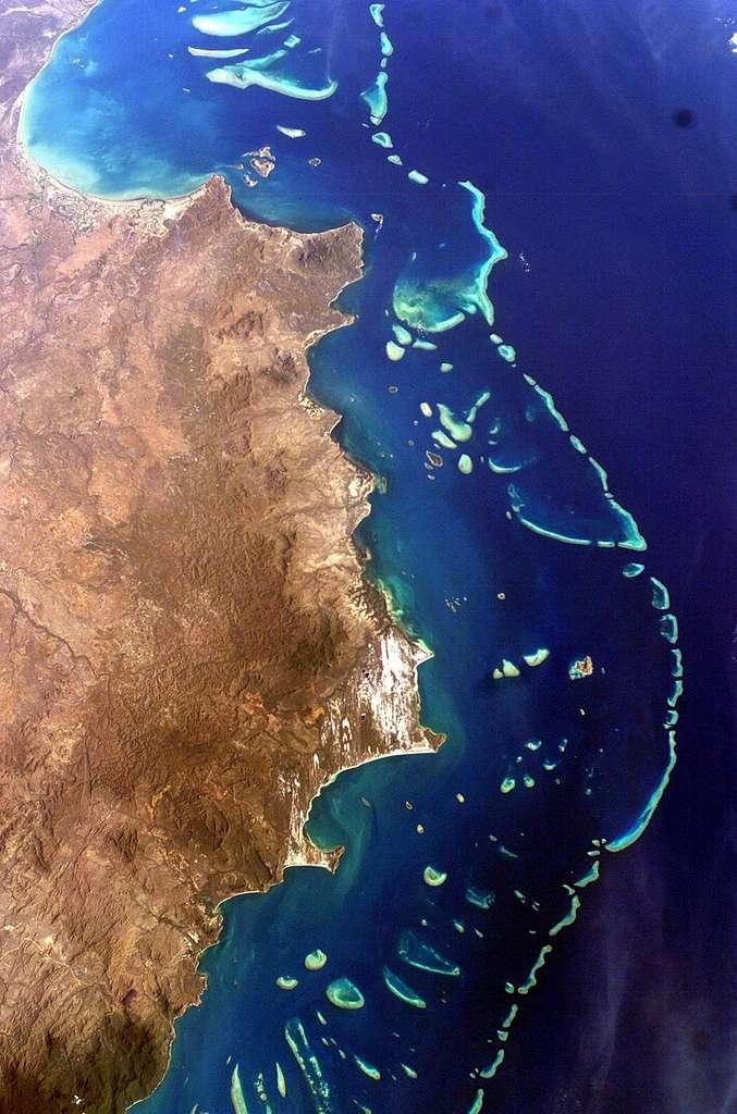 Grande barrière de corail, Australie. © Nasa, Wikimedia Commons, Domaine public