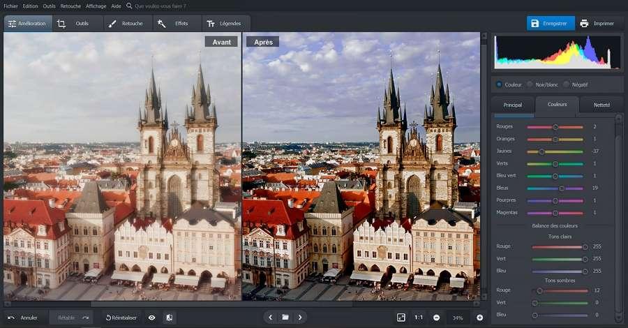 PhotoWorks propose des outils puissants et intelligents pour corriger les couleurs. © PhotoWorks