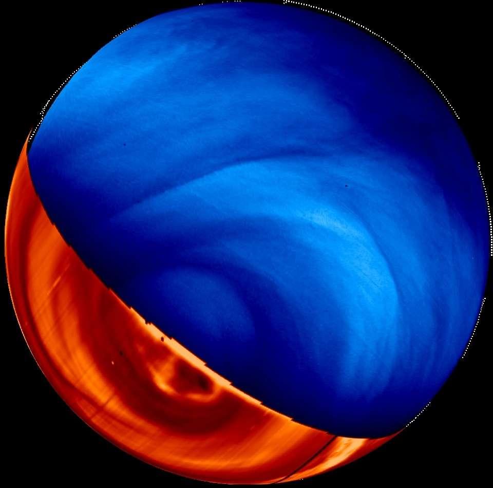 Vénus en ultraviolet et en infrarouge