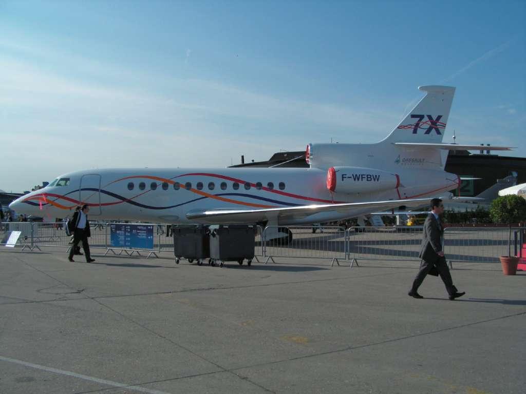 Falcon 7X - Les avions exposes au Salon du Bourget