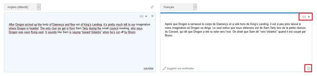 Bing Translator offre une qualité de traduction correcte dans 63 langues. © Microsoft