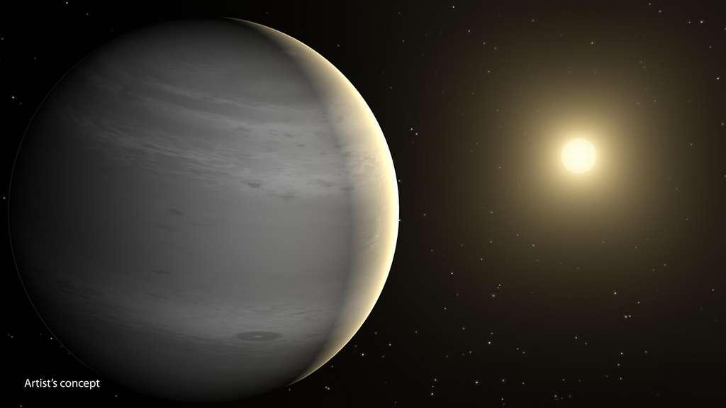 V1298 Tauri e – ici en vue d'artiste – est la planète la plus éloignée de V1298 Tauri et celle qui a le plus de chances de parvenir à conserver son atmosphère. © Nasa