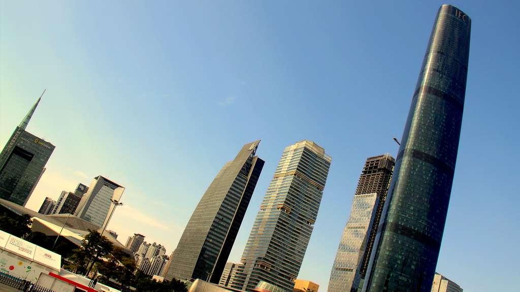 Le Guangzhou International Finance Center, en Chine