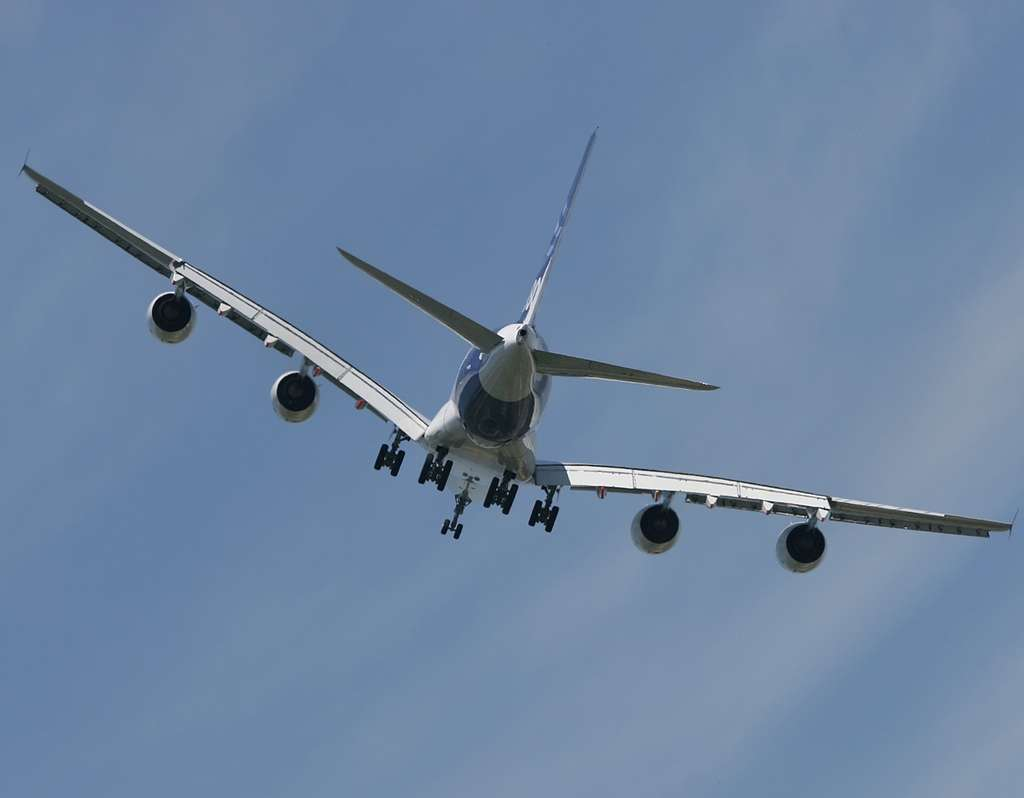 A380 : un bel oiseau vu de dos