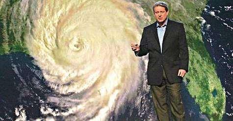 """Al Gore présentant sa conférence (image extraite du film """"Une vérité qui dérange"""")"""