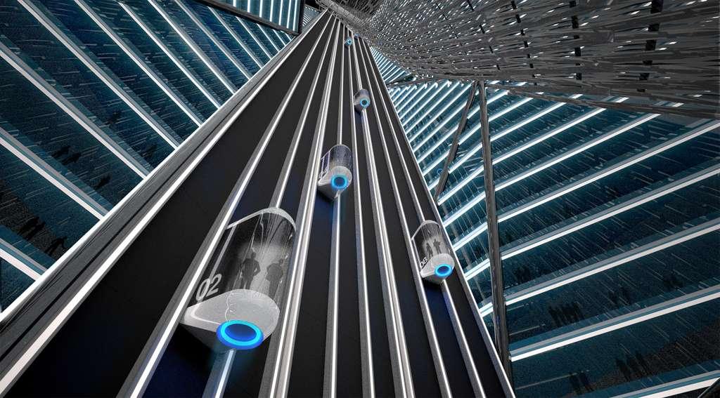 Le stade accueille un hôtel installé dans les hauteurs du bâtiment. © Brian Harms et Keith Bradley