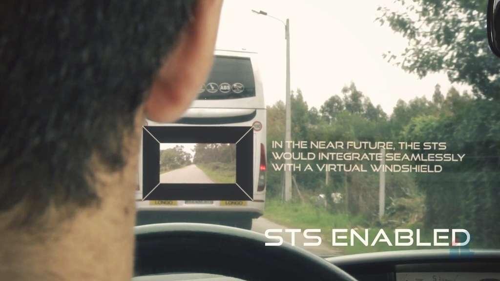 Le See-Through System permet par exemple à un automobiliste de pouvoir regarder à travers un bus qu'il souhaite doubler. Grâce à une caméra placée à l'avant de l'autocar, le conducteur qui roule derrière lui peut, lui aussi, voir si la route est dégagée pour envisager le dépassement.