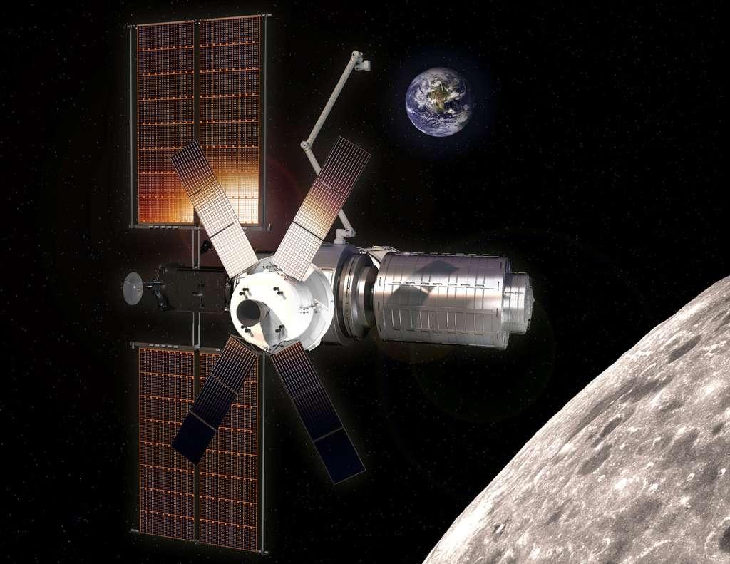 La Nasa prévoit de lancer le premier élément de ce poste avancé, le module PPE (Power Propulsion Element), en 2022 et de terminer son assemblage dès 2025. © SSL