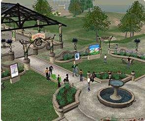 La BBC s'est offert une île dans l'univers virtuel Second Life Elle compte y organiser des tremplins et retransmettre des festivals comme celui de Dundee, en Ecosse (Crédits : Linden Lab)