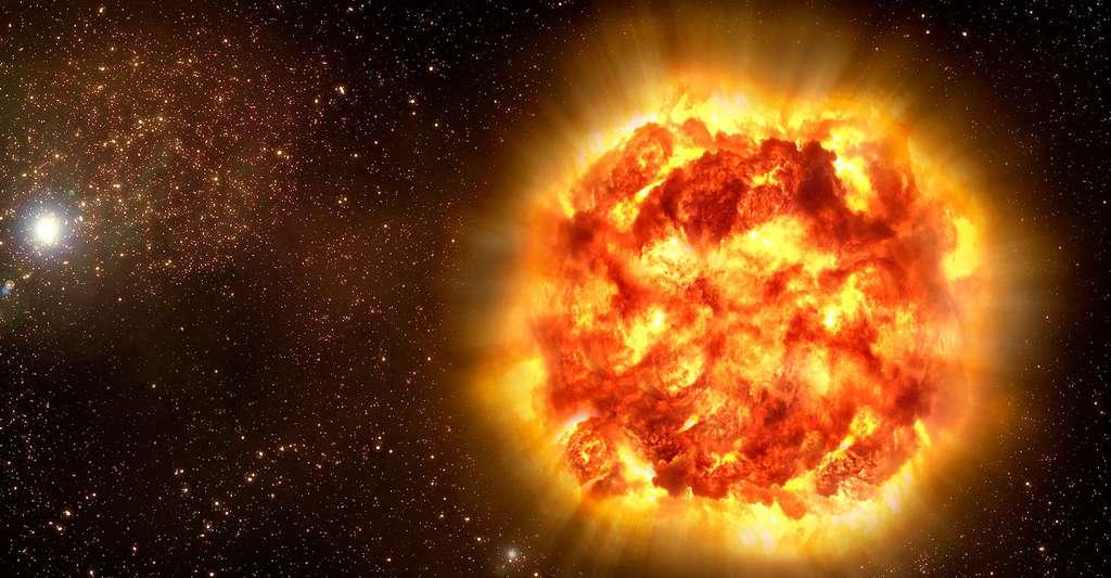 L'observation de certaines étoiles a permis de découvrir l'accélération de l'expansion de l'univers. Ici, vue d'artiste d'une supernova. © ESO, CC by 4.0