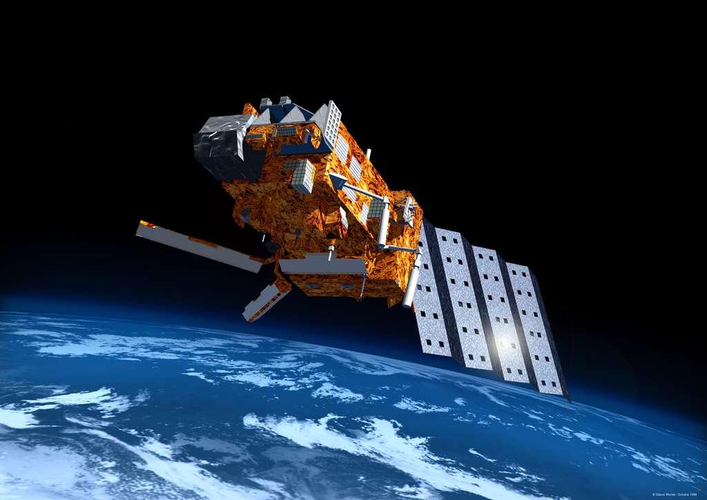 Les trois satellites Metop de la première génération retomberont naturellement en moins de 25 ans dans l'atmosphère terrestre. Quant aux deux de la deuxième génération, ils auront une capacité active de rentrée atmosphérique. Dès la fin de leur mission, ils seront propulsés dans l'atmosphère terrestre où ils se consumeront. © Esa, Silicon Worlds