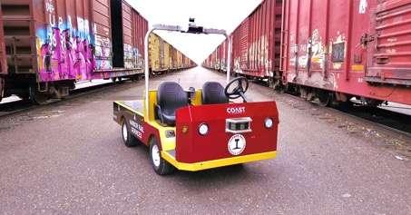 L'AV Bigfoot a pour mission de déplacer des charges ou des bagages en autonome à tout moment. © Induct