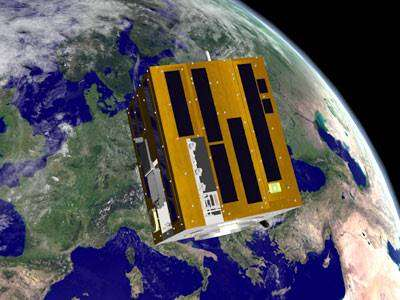Le satellite SSETI (crédit : Morten Bisgaard, Aalborg University)