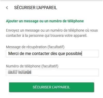 Laissez un message et un numéro de téléphone pour être contacté plus facilement. © Google