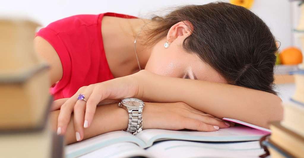 Le manque de sommeil peut diminuer les performances scolaires. © megaflopp, Shutterstock