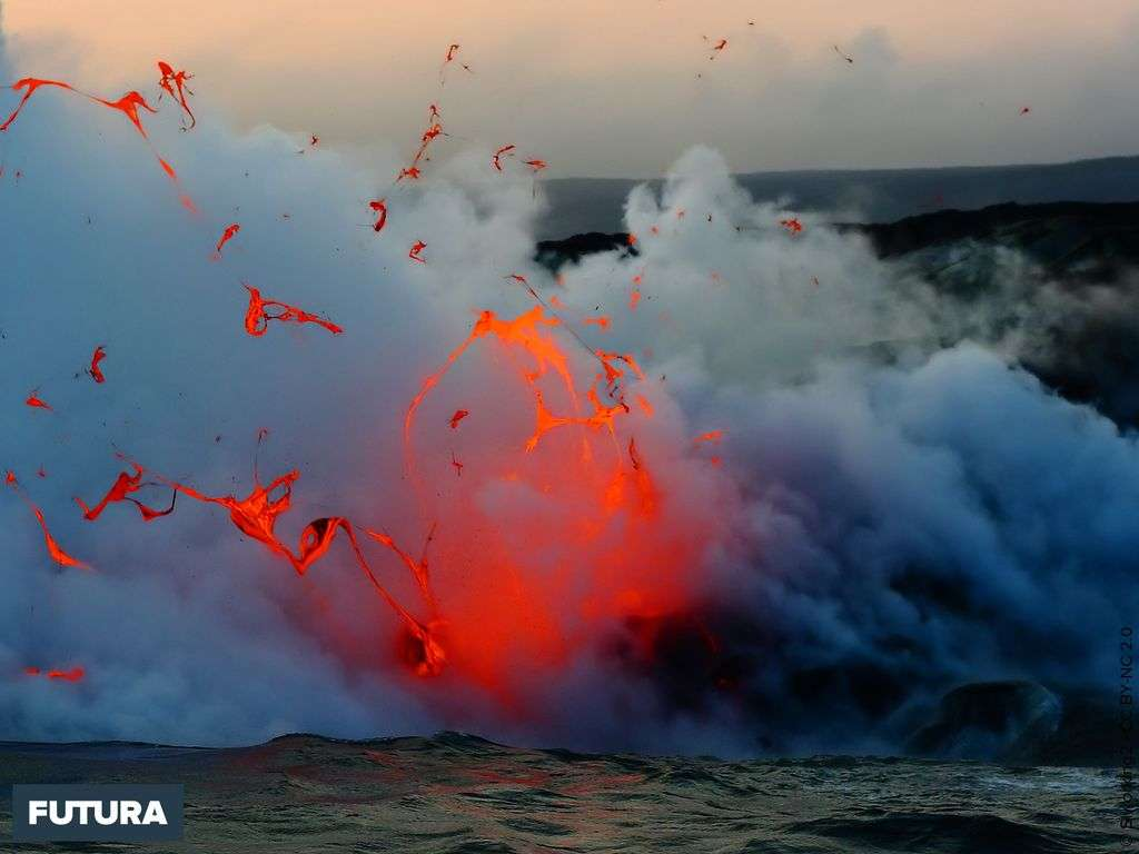 Flot de lave volcan Kilauea