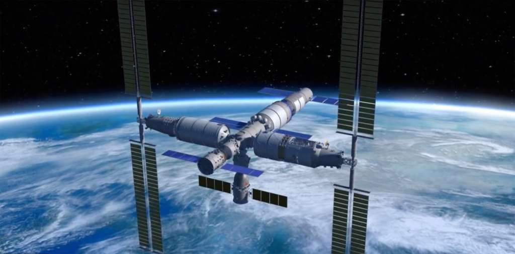 Selon les documents de la NSFC, la recherche va se concentrer sur la création de composants légers pouvant être lancés séparément et assemblés dans l'espace. La future station spatiale chinoise, Tiangong, est d'ailleurs construite selon cette méthode avec des modules individuels raccordés en orbite basse. © CMSA