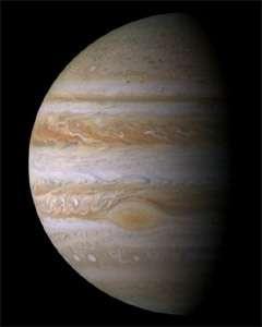 Jupiter, vue par la sonde américaine Cassini le 23 Décembre 2000. © NASA