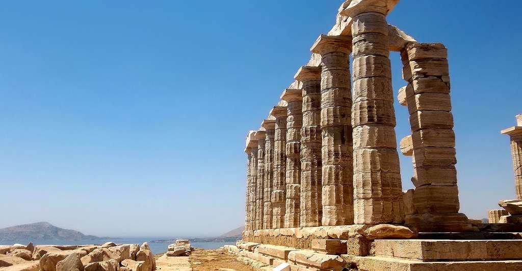 Voyage en Grèce, pays des dieux de l'Olympe. Ici, temple de Poséidon. © 975311, DP